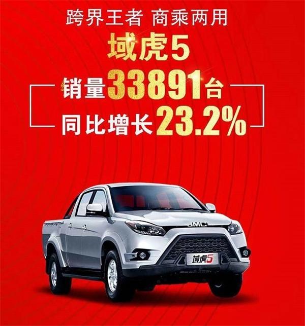 2018年江铃域虎销量增长58.3% 域虎3累计销量破万